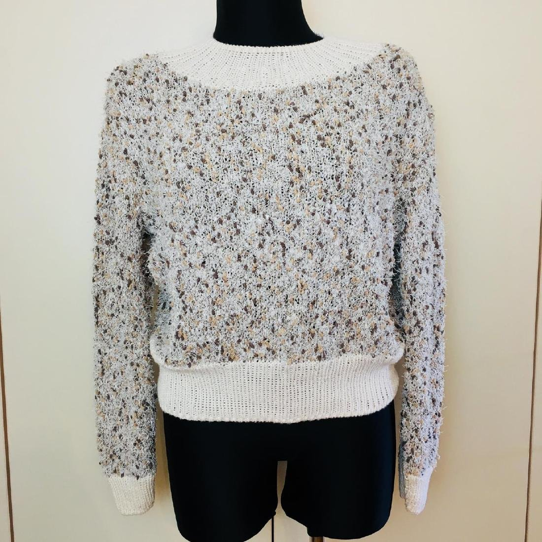 Vintage Women's Fluffy Sweater Jumper Size US 14