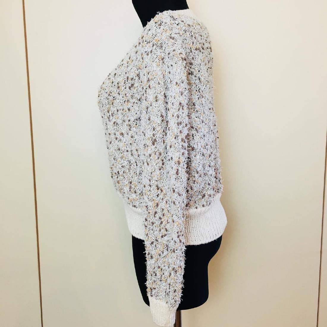 Vintage Women's Fluffy Sweater Jumper Size US 14 - 4