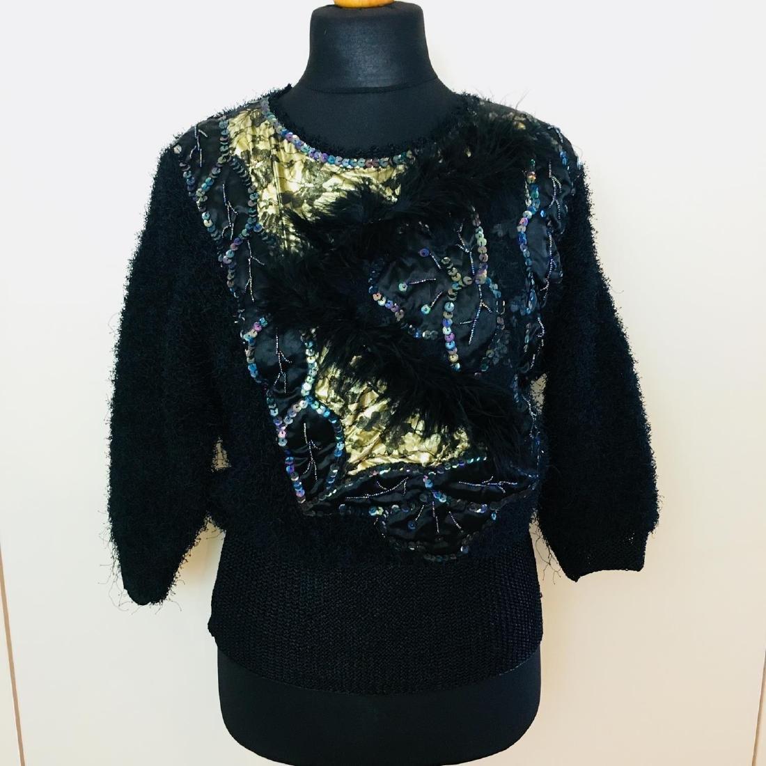 Vintage Women's Fluffy Sweater Jumper Size US 10