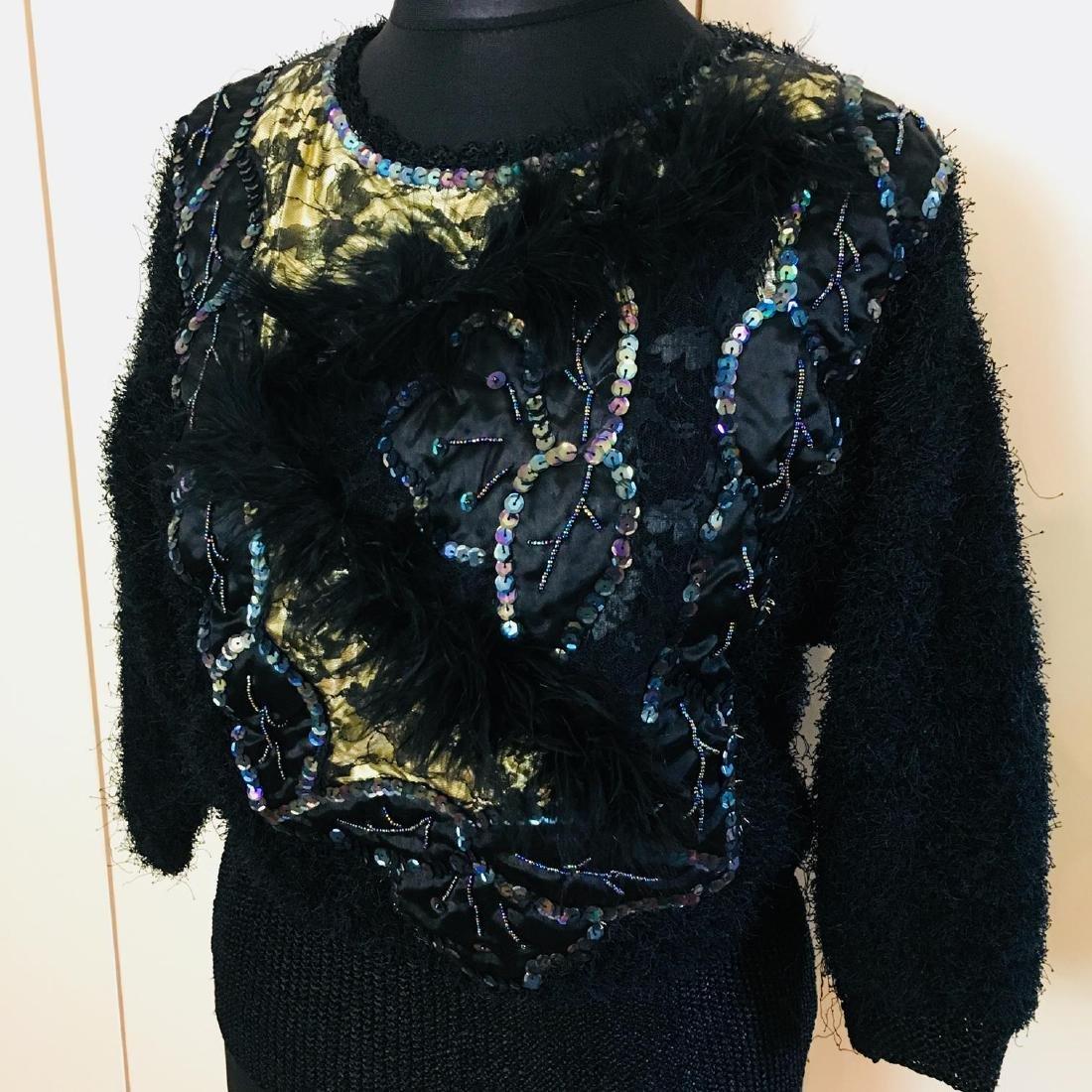 Vintage Women's Fluffy Sweater Jumper Size US 10 - 2