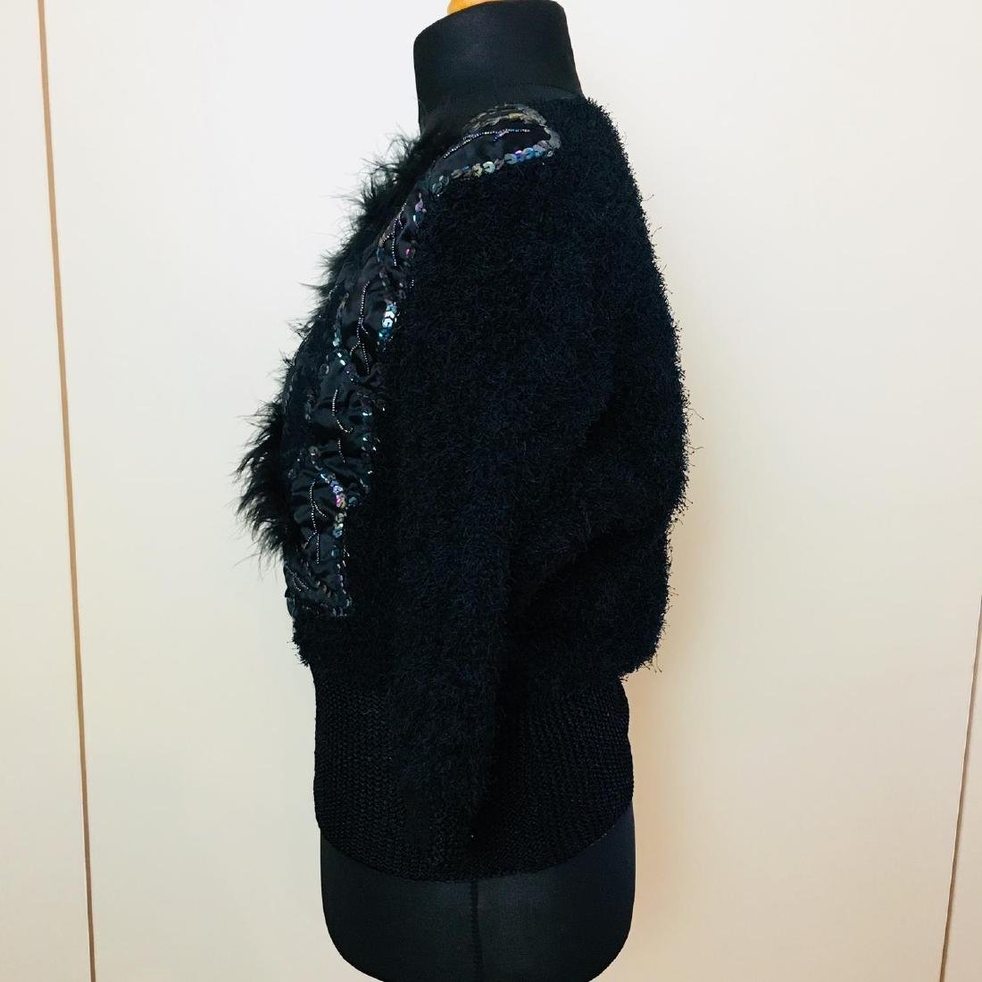 Vintage Women's Fluffy Sweater Jumper Size US 10 - 4
