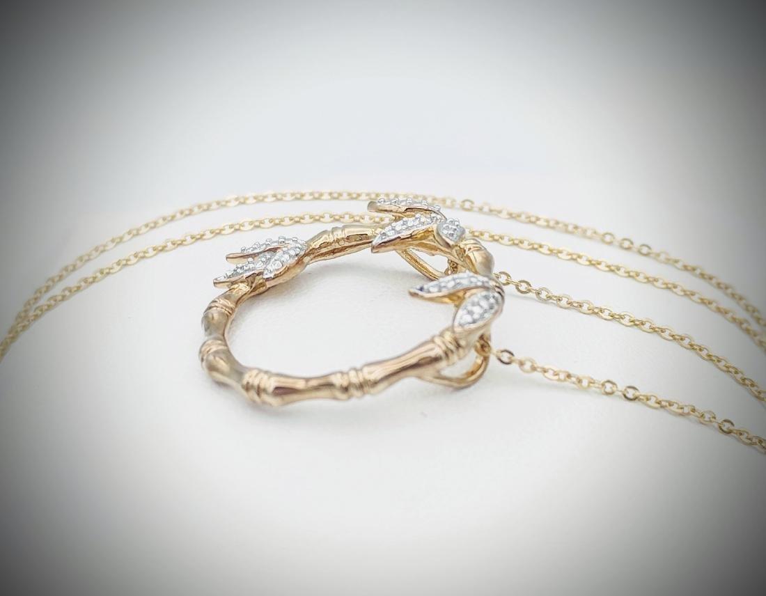 Necklace & Wreath Design Pendant w Diamonds - 2