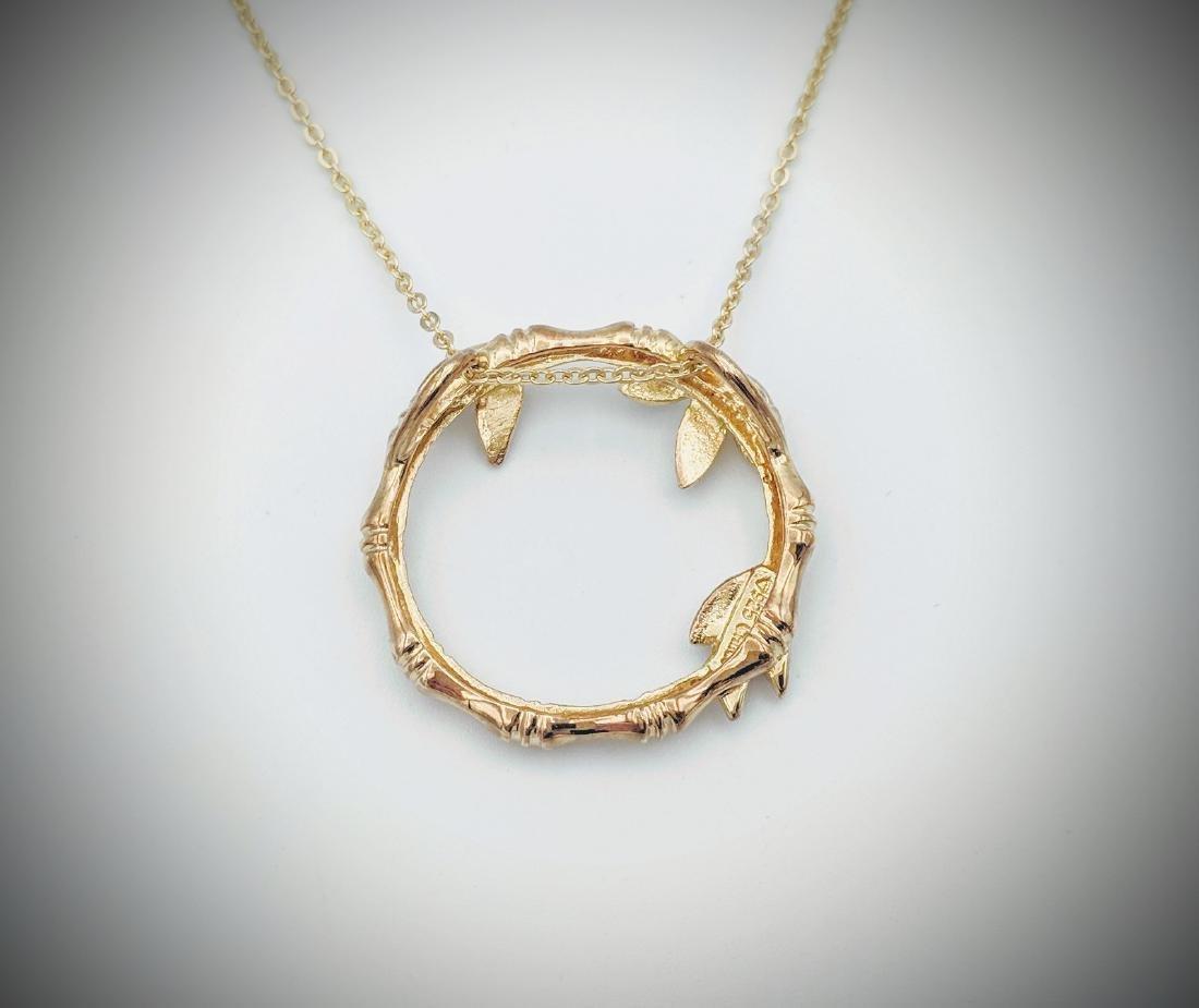 Necklace & Wreath Design Pendant w Diamonds - 3