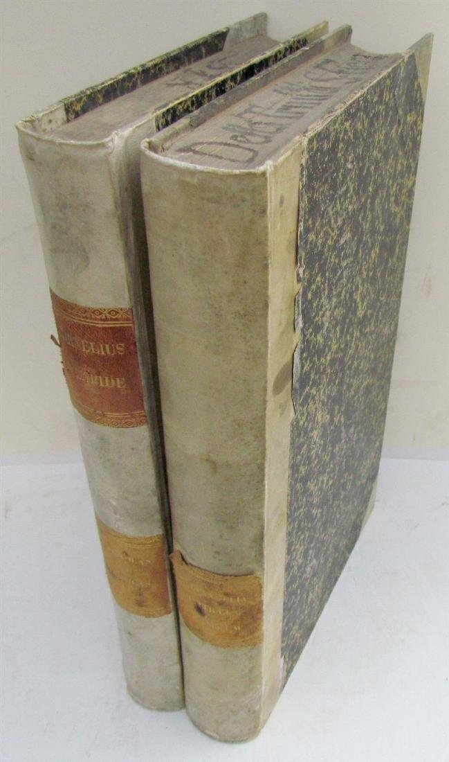 1649 VELLUM SPINES 2 VOLUMES ANTIQUE FOLIOS BIBLE