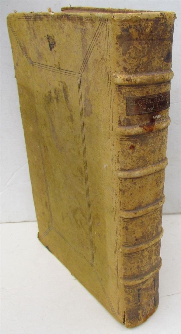 1634 BIBLE BIBLIA SACRA ANTIQUE LEATHER BOUND MASSIVE
