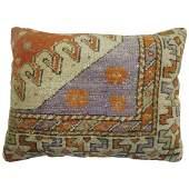 Vintage Turkish Lumbar Rug Pillow1.2x1.10