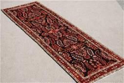 Semi Antique Hand Woven Hamadan Runner Rug
