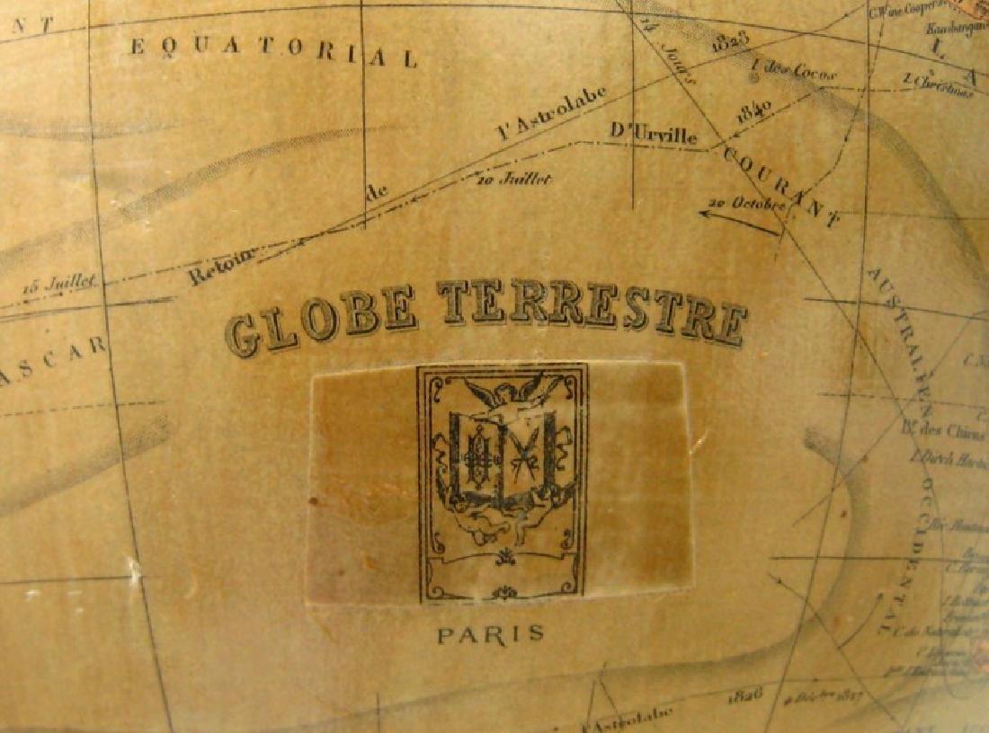 Globe Terrestre (piètement en bois noirci.) - 4