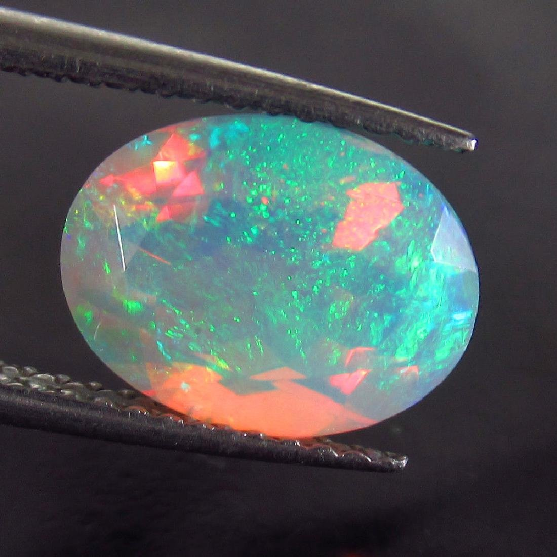 2.07 Ct Natural Ethiopian Faceted Fire Opal Oval Cut