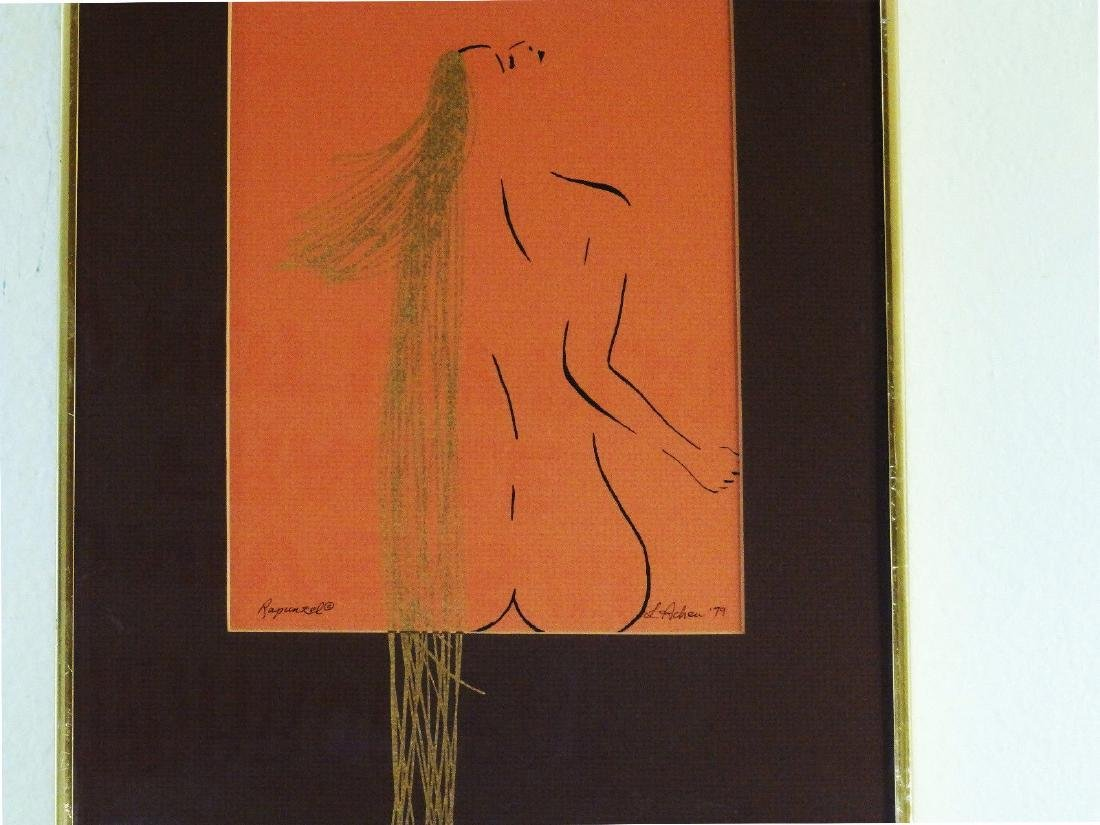 Circa 1979 'NUDE FEMALE with GOLDEN HAIR' L. Achew - 2