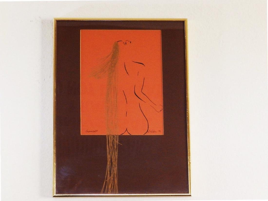 Circa 1979 'NUDE FEMALE with GOLDEN HAIR' L. Achew - 4