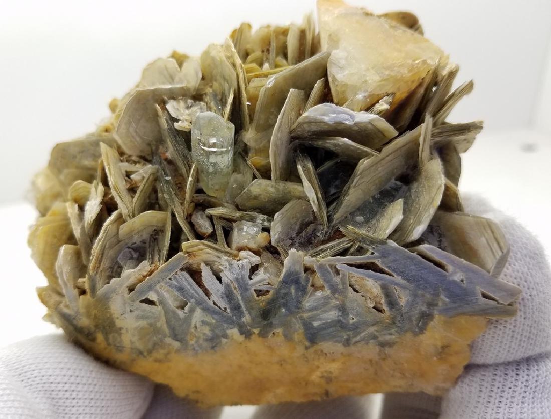 Natural Aquamarine Specimen With Mica - 2