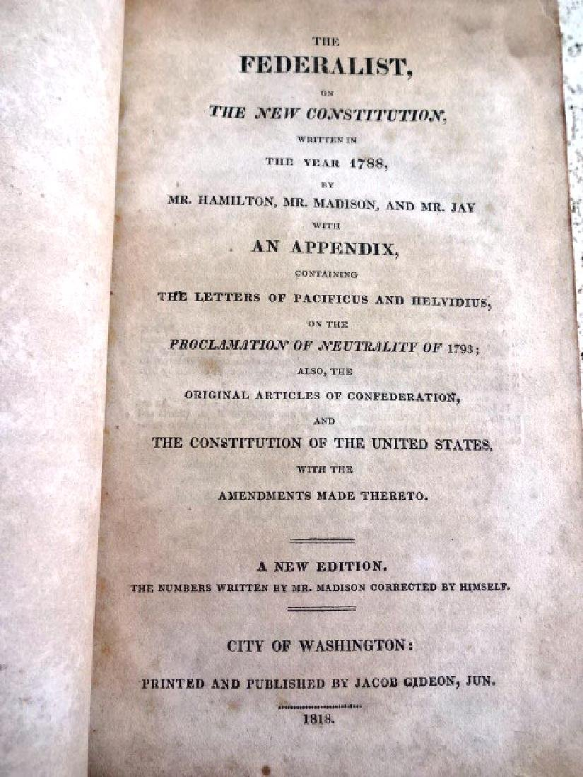 1818 The Federalist on the New Constitution