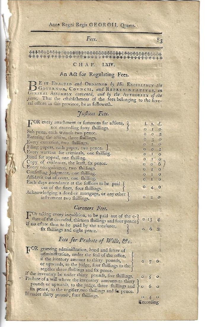 1771 Colonial New-Hampshire Act
