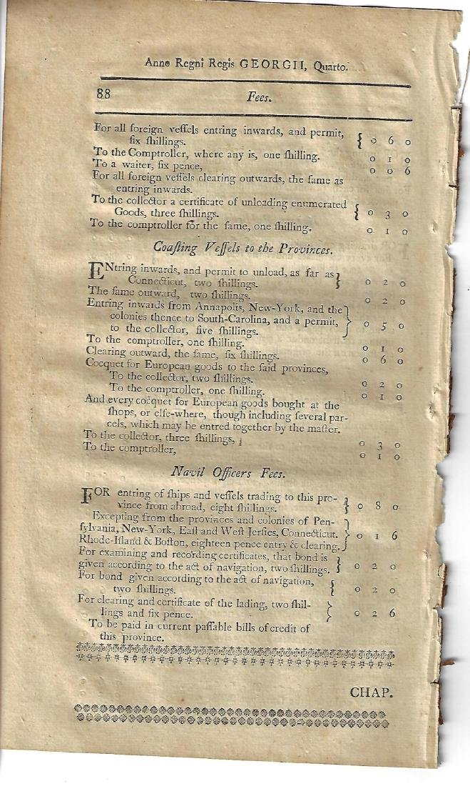1771 Colonial New-Hampshire Act - 2