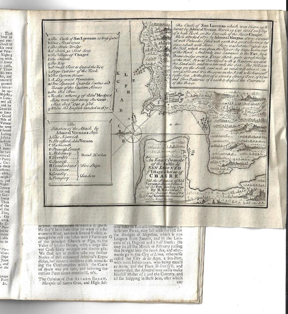 1740 Magazine w/ Plan of Castle at San Lorenzo