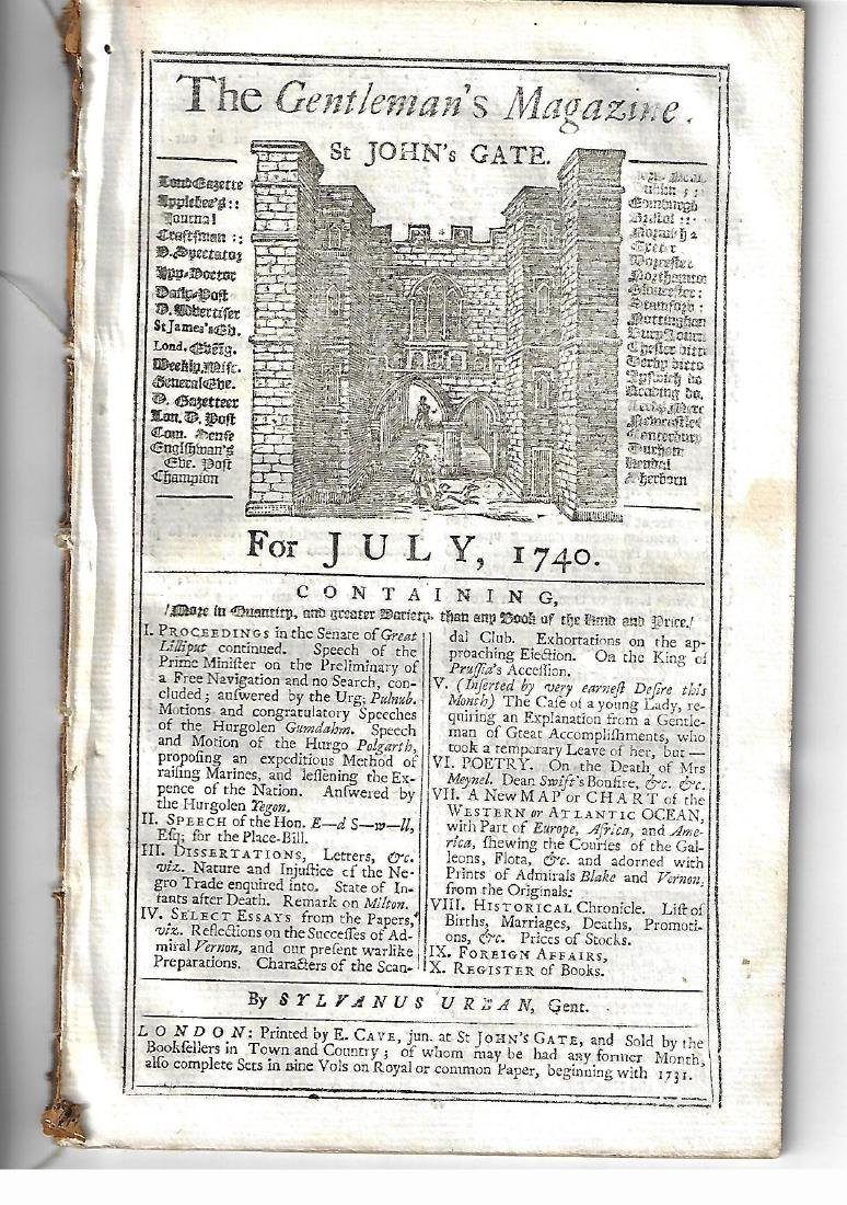 1740 Magazine w/ Plan of Castle at San Lorenzo - 2