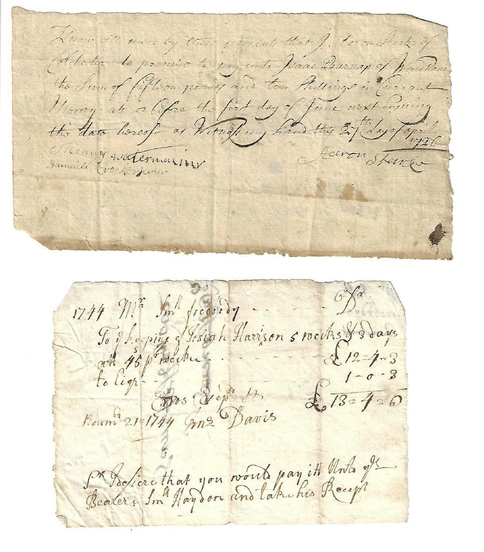 1726 Colonial Promissory Note w/ Another