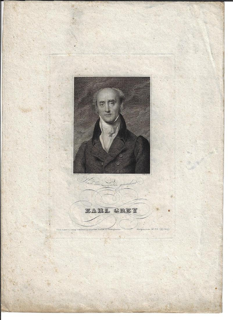 19th C Engraving of Earl Grey