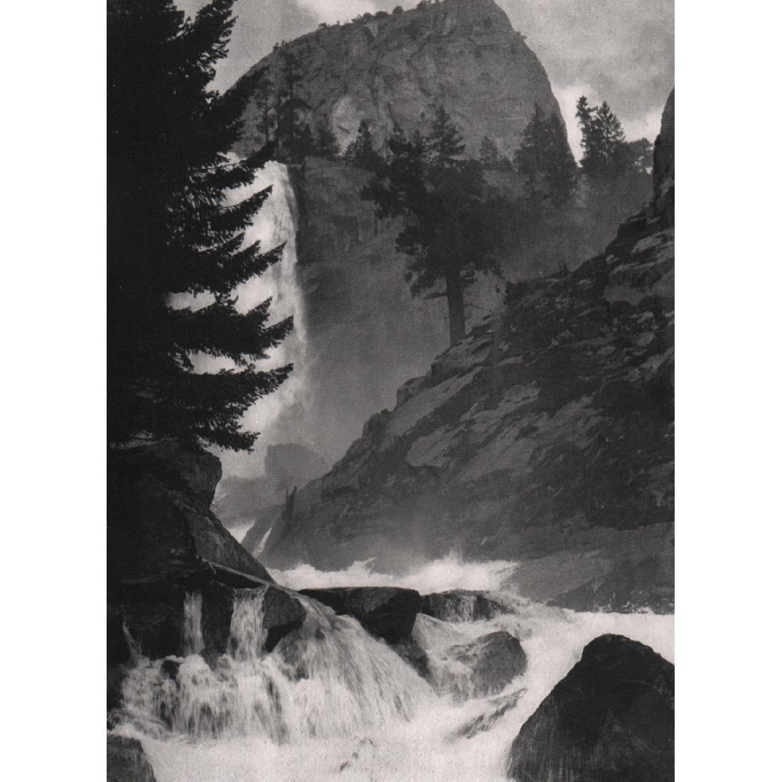 ANSEL ADAMS - Vernal Fall, Yosemite Nat'l Park