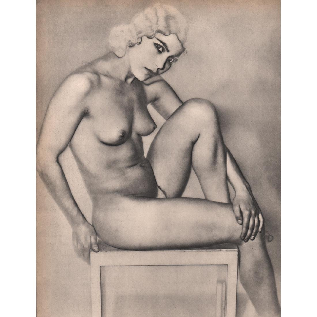 MAN RAY -  Nude, solarized