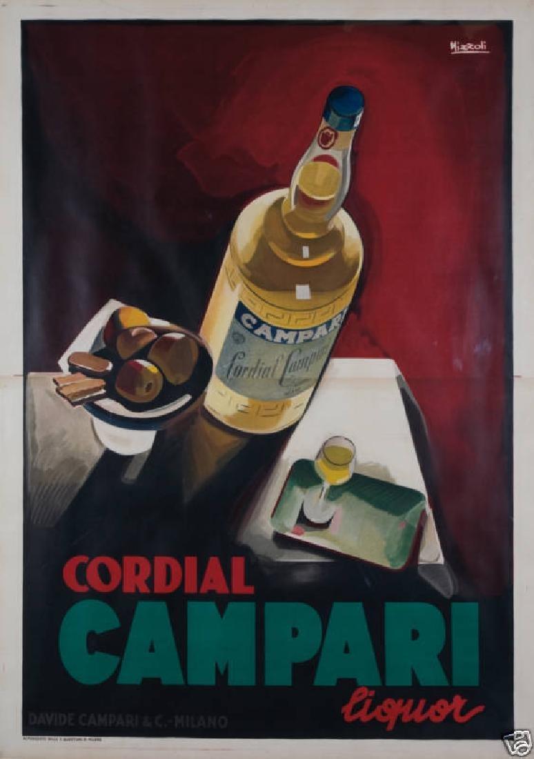 Original Vintage Poster Cordial Campari Liquor Marcello
