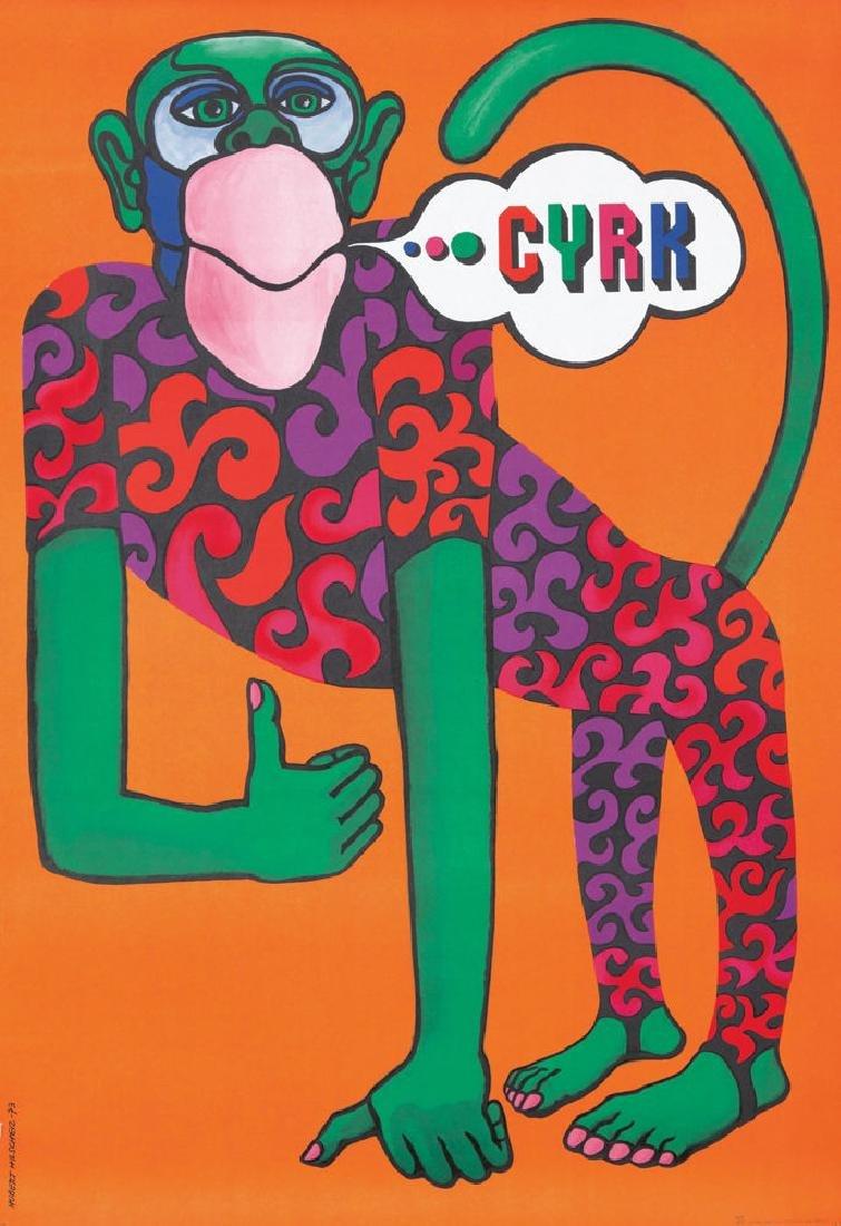 Original Vintage Poster Hubert Hilscher Polish Cyrk