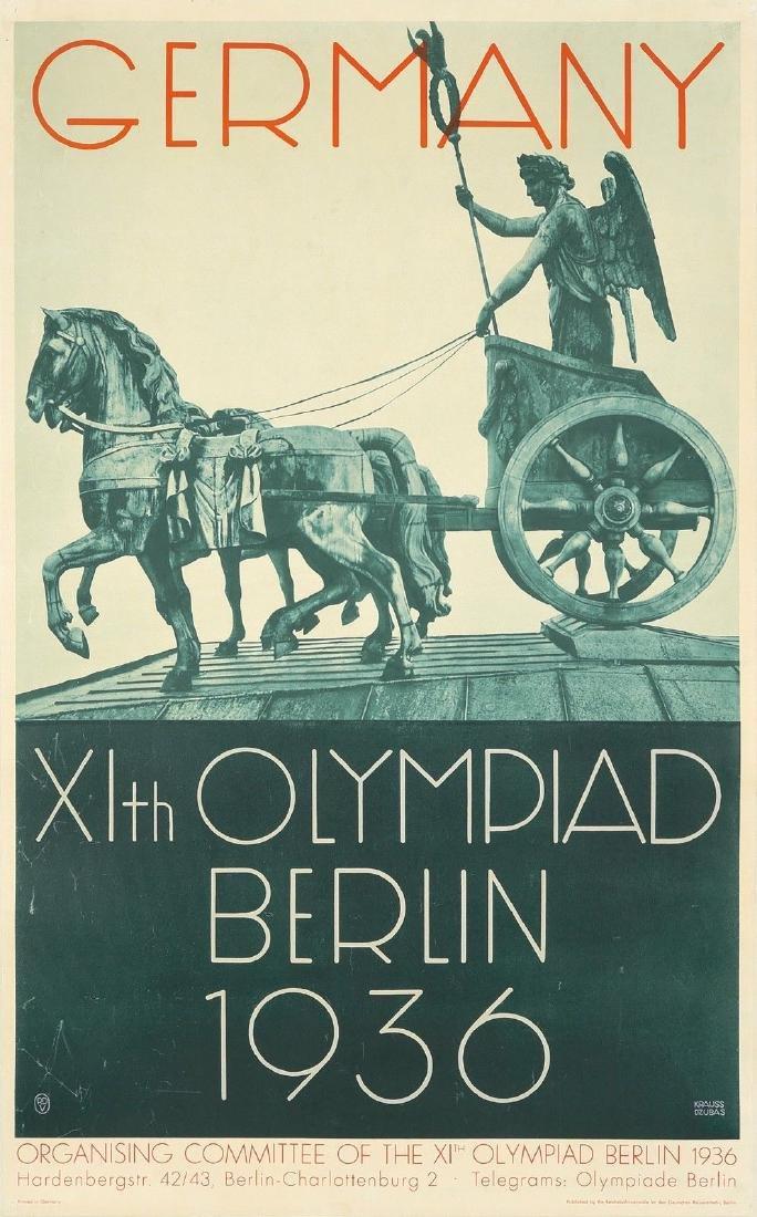 Original Vintage Poster Germany Olympics Berlin 1936