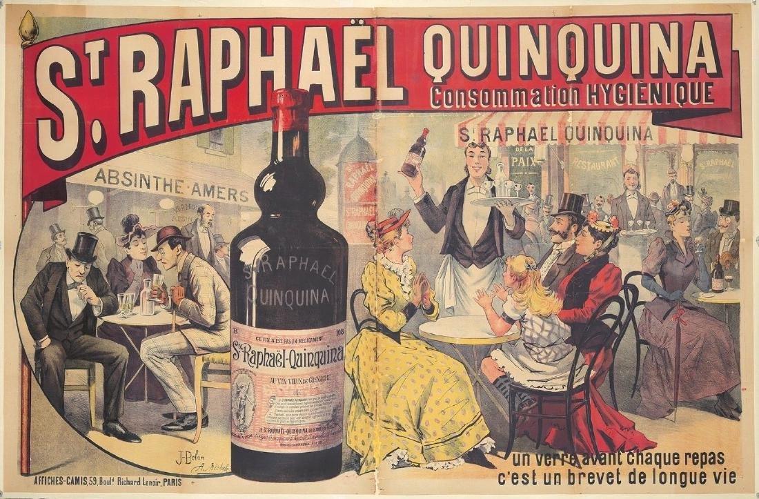 Original Vintage Poster Saint Raphael Quinquina