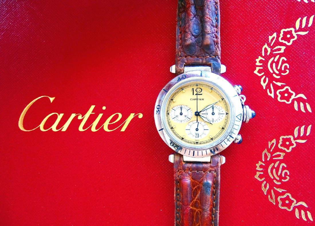 Cartier Pasha 38mm Eleganter Hochfeiner Luxus Herren