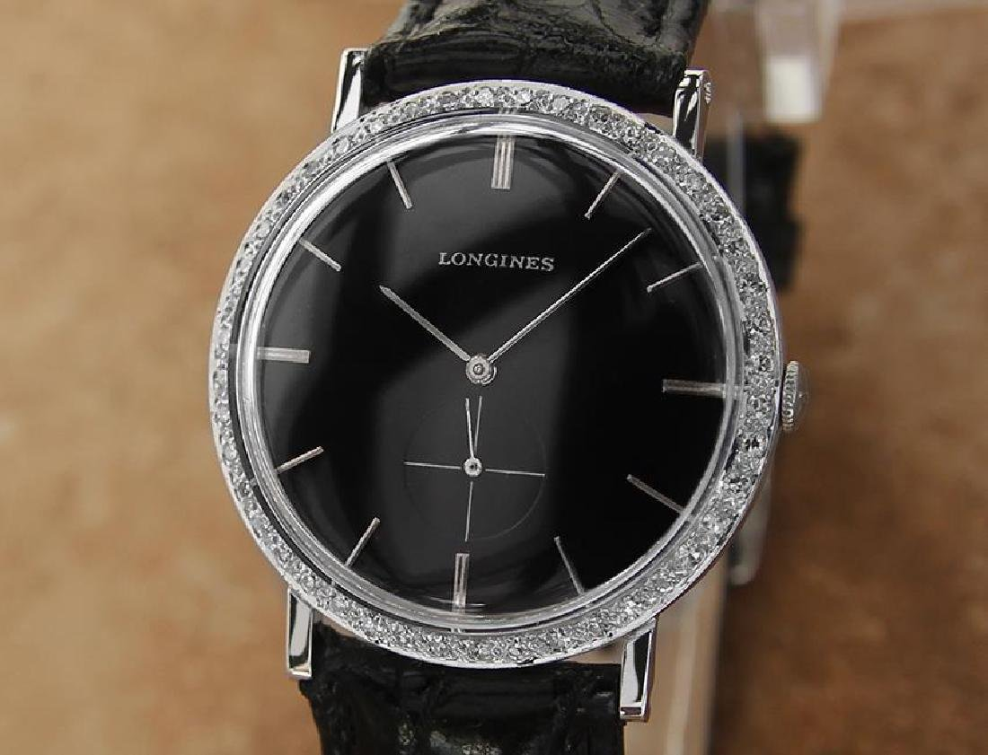 Longines Swiss Made 18k White Gold 1960s Automatic