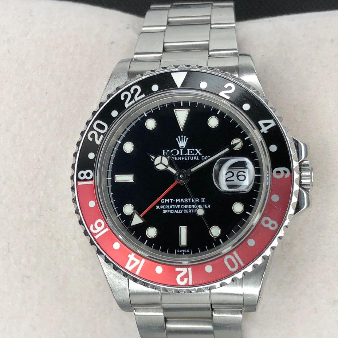 Men's Rolex GMT-Master II Fat Lady Coke Oyster
