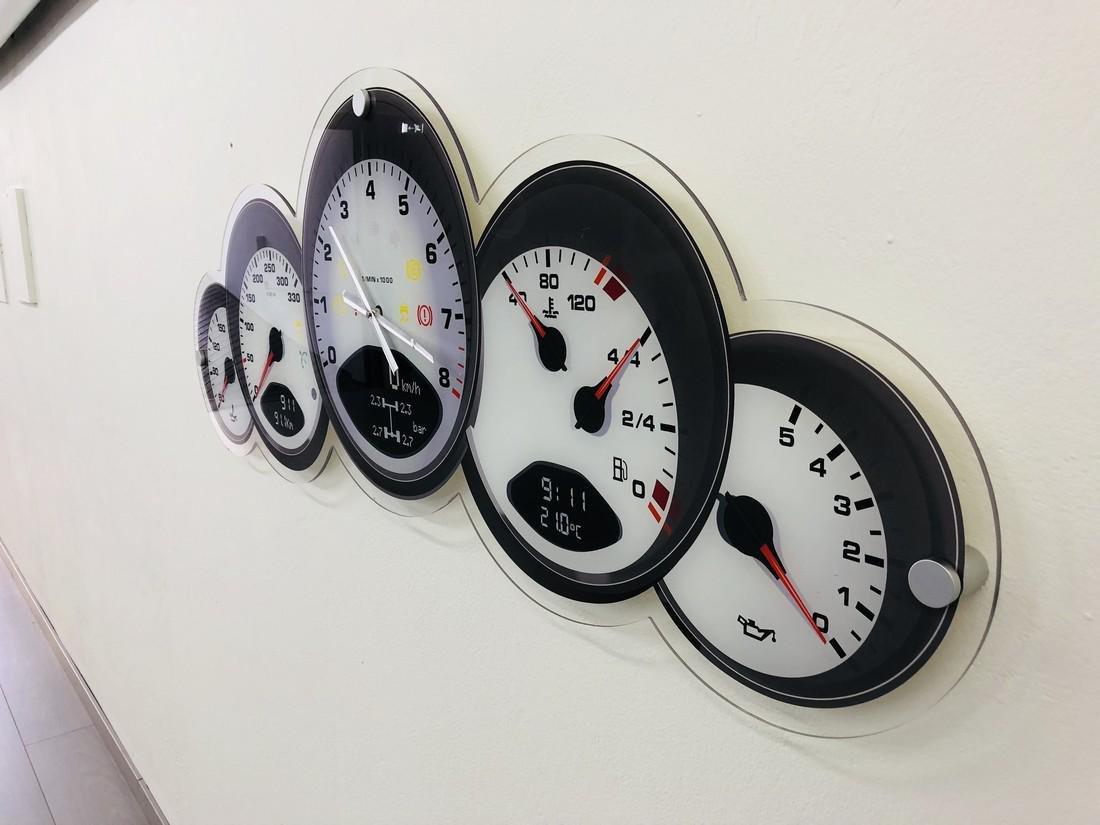 Halmo Porsche Dashboard Wall Clock - 2018 - 10