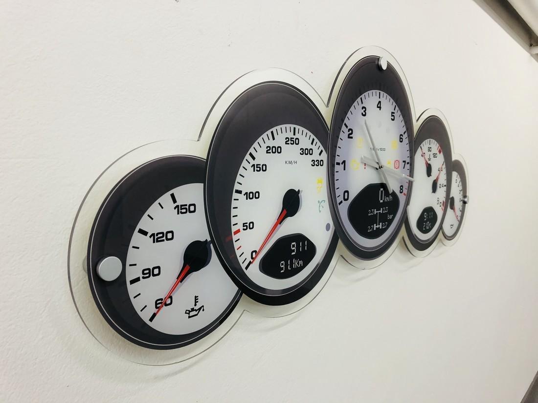 Halmo Porsche Dashboard Wall Clock - 2018 - 5