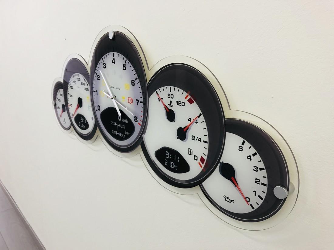 Halmo Porsche Dashboard Wall Clock - 2018 - 6