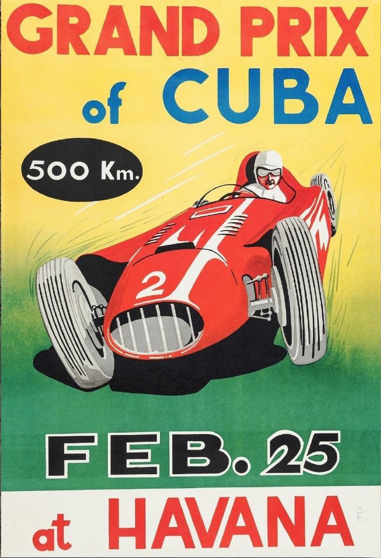 Poster Of Cuban Formula One GP