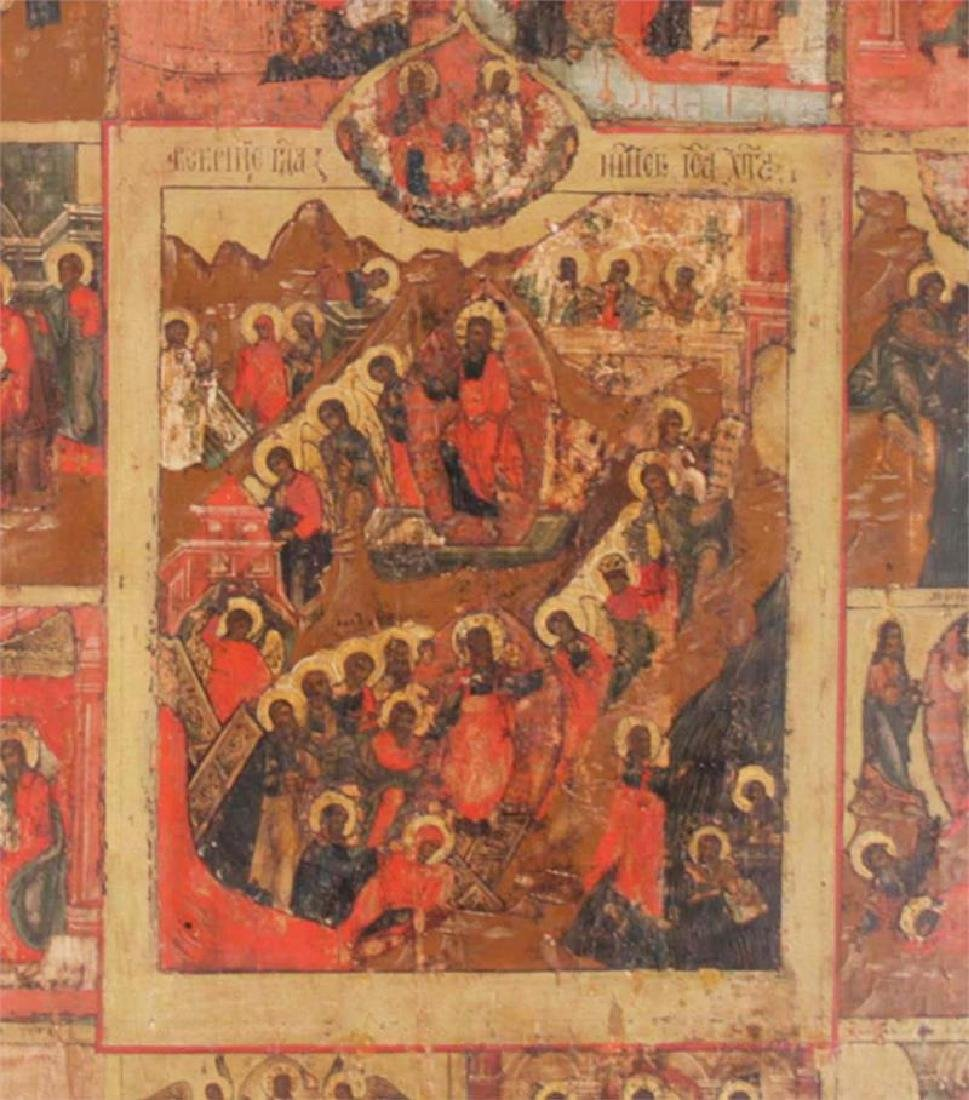 Antique Russian Icon of the Great Feasts - 2