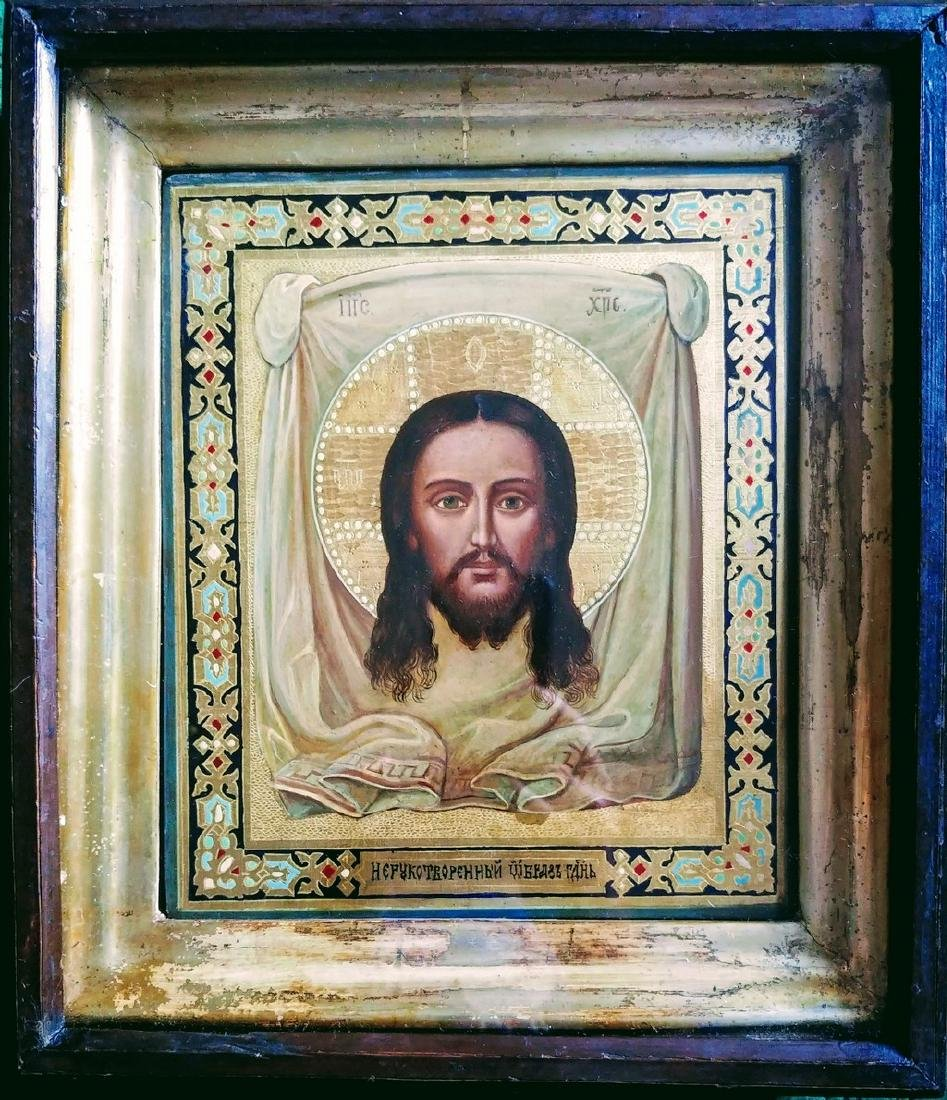 """Russian icon of the Christ """"Image not made by Hands"""". - 2"""