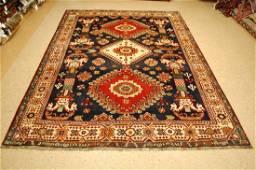 Persian Shiraz Qashkai Rug 6.10x9.2 Horse Head Pillars
