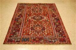 Colorful Persian Heriz Serapi Gharaje Karaje Rug