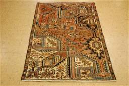 Persian Heriz Serapi Sampler Rug 3x4.8 Not a Fragment