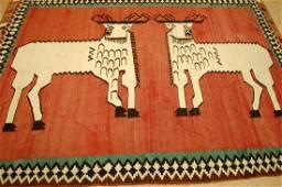 Afshar, Shiraz Kilim 5.10x8 Animal Deer Pictorial Rug