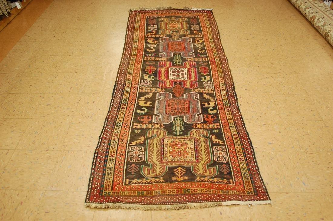 Lankoran Kazak Design Caucasian Soumak Kilim Rug