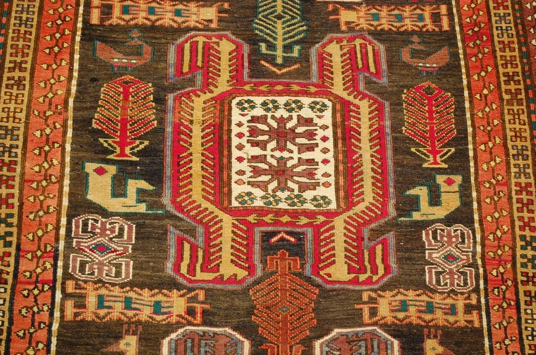 Lankoran Kazak Design Caucasian Soumak Kilim Rug - 5