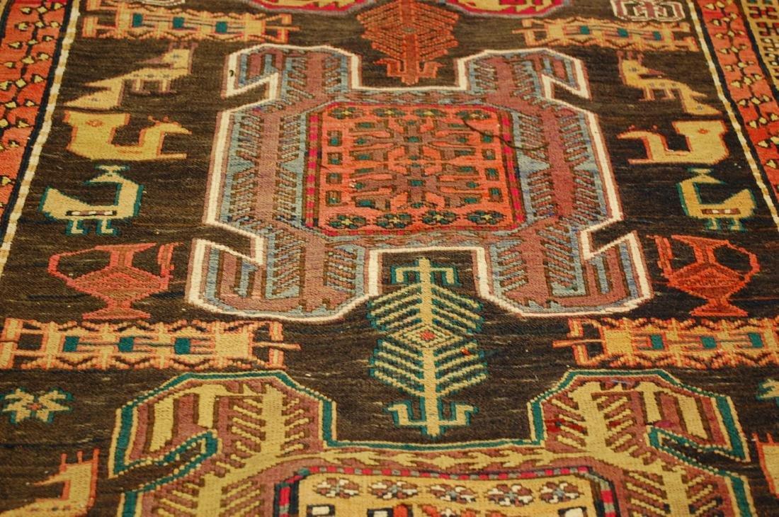 Lankoran Kazak Design Caucasian Soumak Kilim Rug - 7