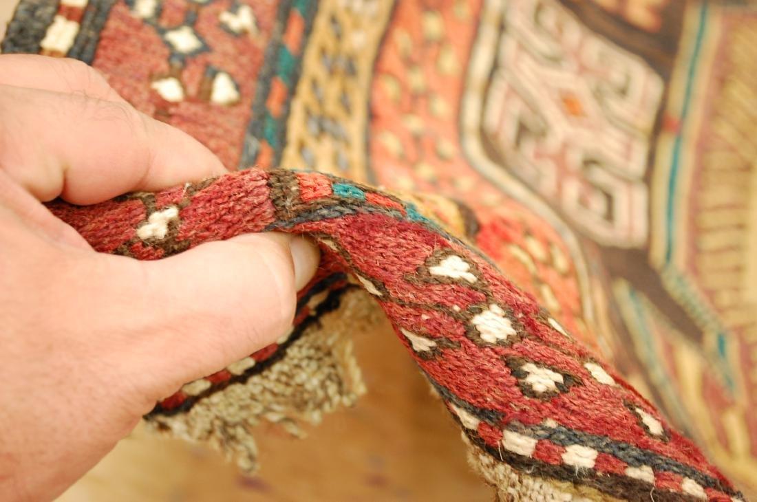 Lankoran Kazak Design Caucasian Soumak Kilim Rug - 8