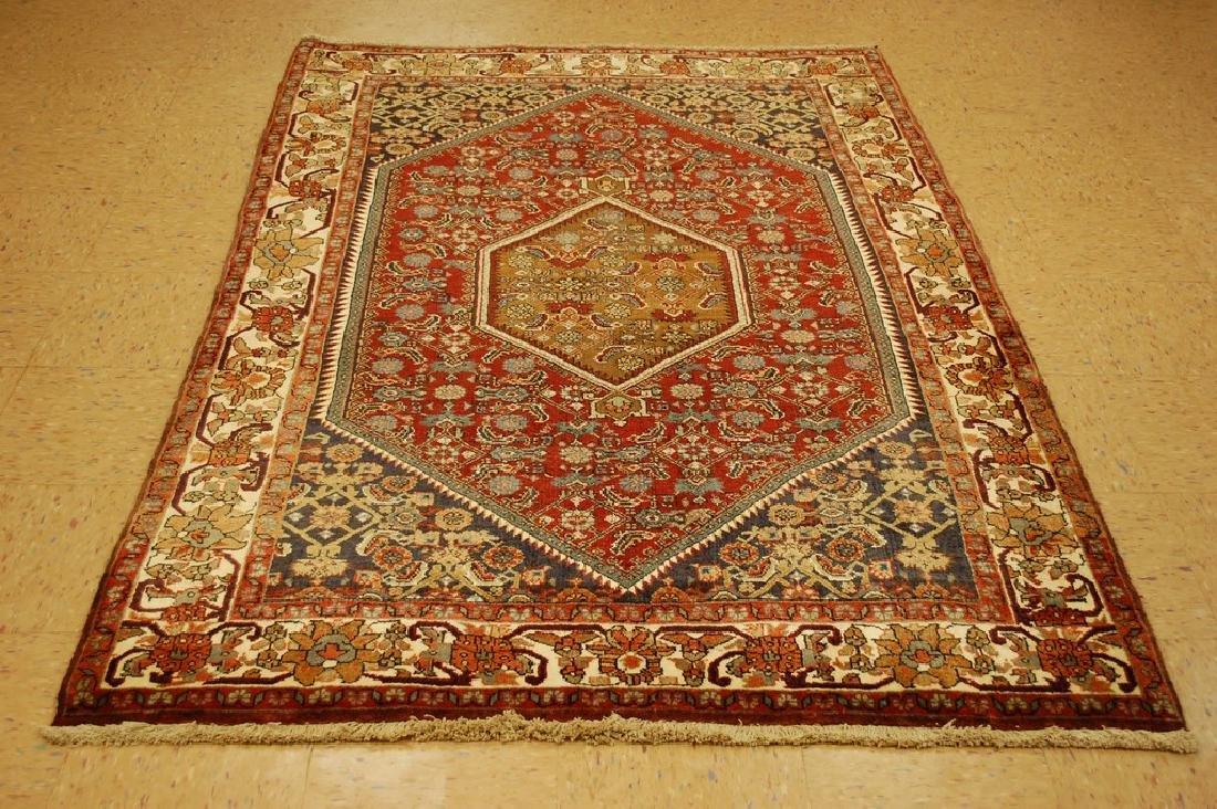 Detailed Persian Bijar Rug 4.9x6.11 Classic Village