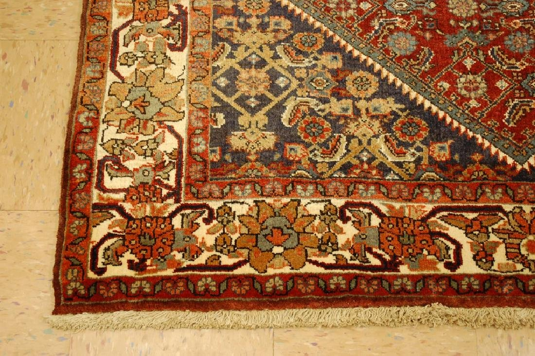 Detailed Persian Bijar Rug 4.9x6.11 Classic Village - 2