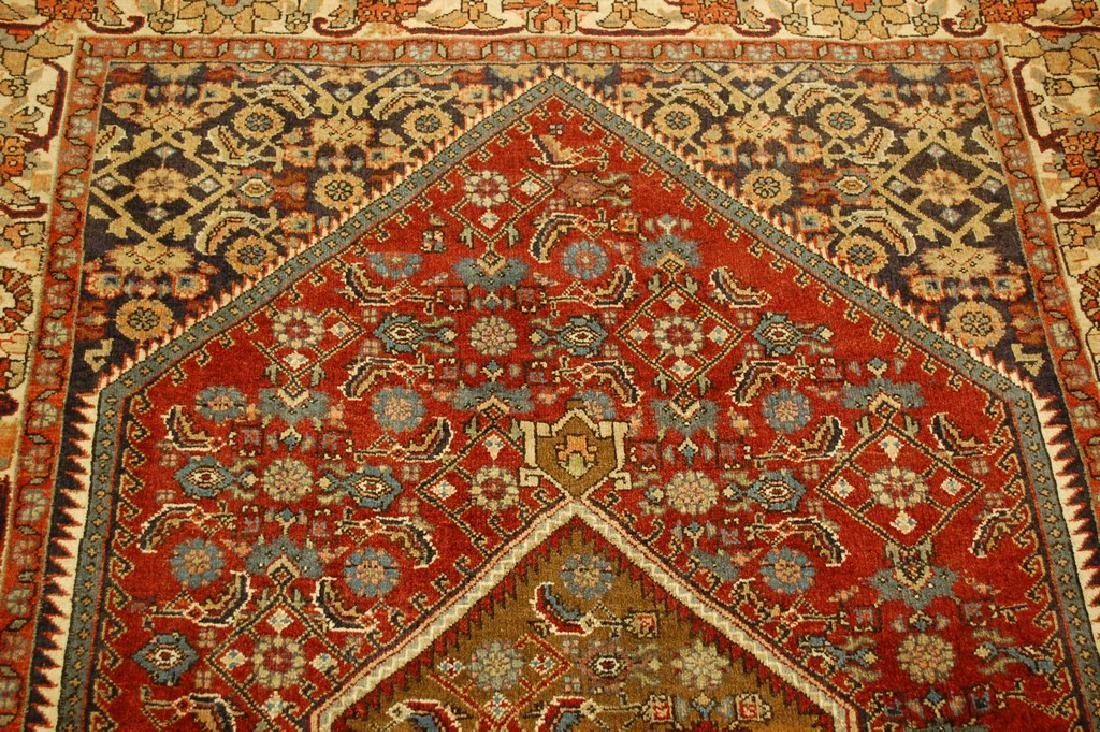 Detailed Persian Bijar Rug 4.9x6.11 Classic Village - 4