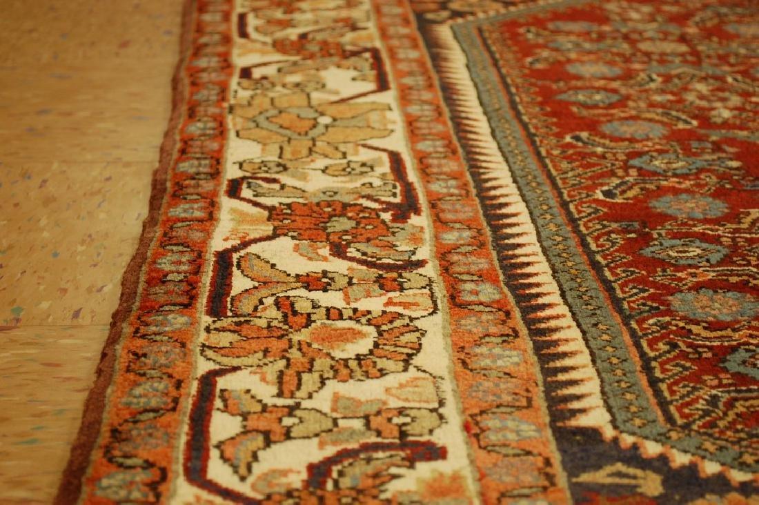 Detailed Persian Bijar Rug 4.9x6.11 Classic Village - 7